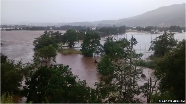 Flooding near Kingussie
