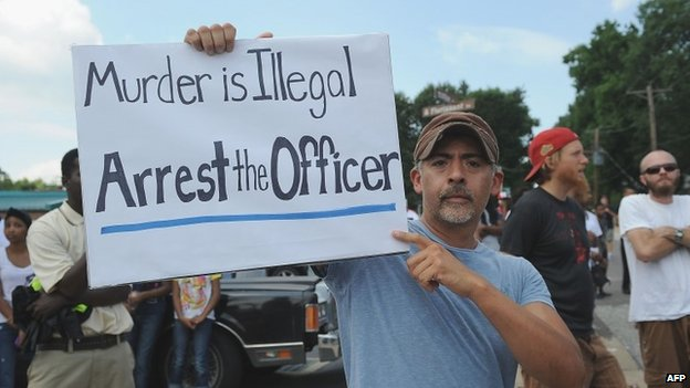 Ferguson protester