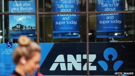 Anz logo and pedestrian