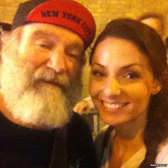 Robin Williams and Maya Post