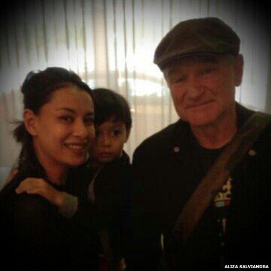 Aliza Salviandra and Robin Williams