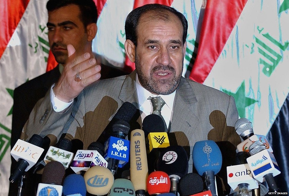 Nouri Maliki at press conference in 2005