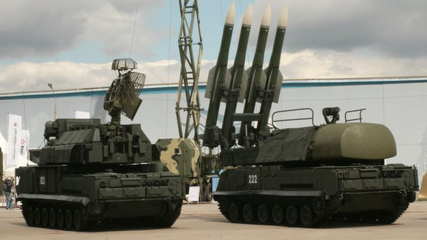 Buk system on show in Moscow