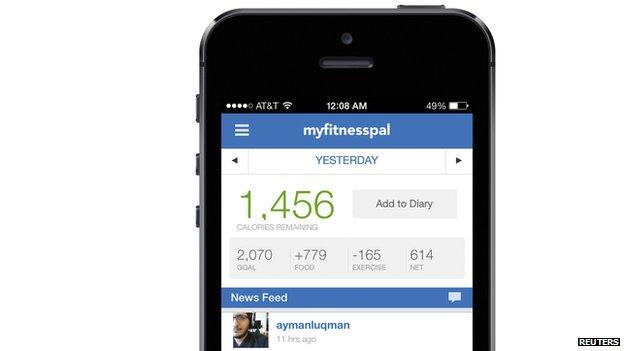 MyFitnessPal mobile phone app