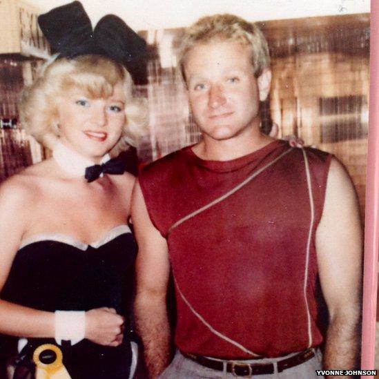 Yvonne Johnson and Robin Williams
