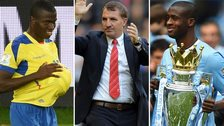 (L-R) Enner Valencia, Brendan Rodgers and Yaya Toure