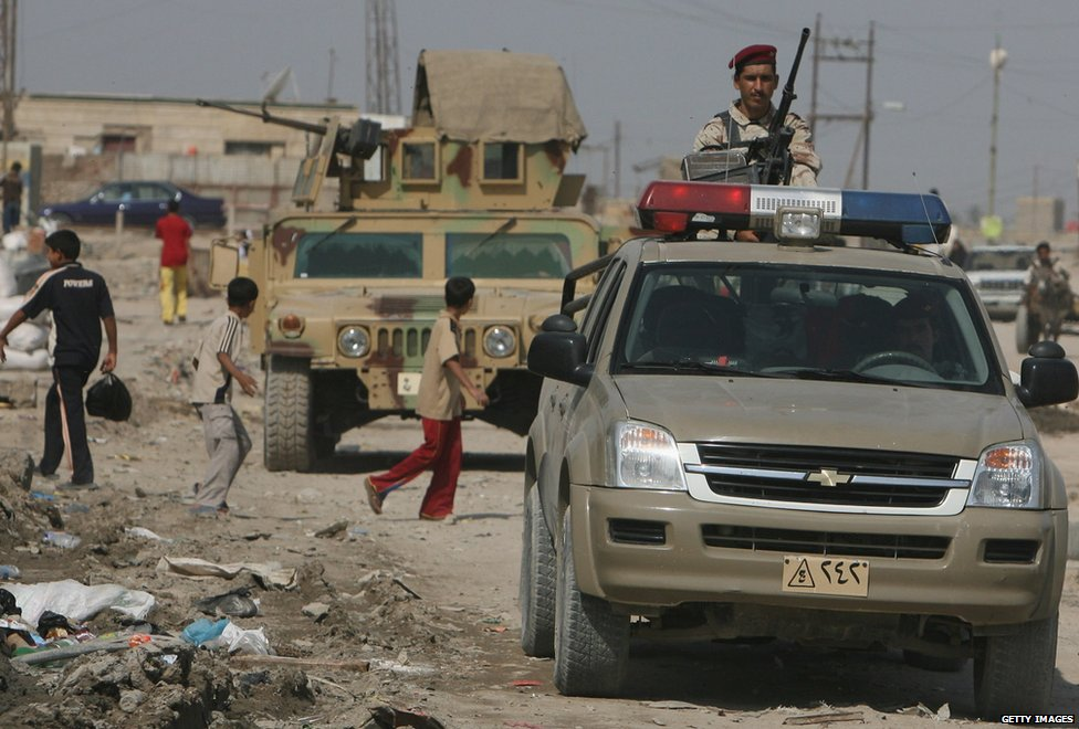 Iraqi troops in Basra, 2008