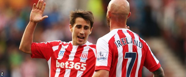 Bojan Krkic and Stephen Ireland