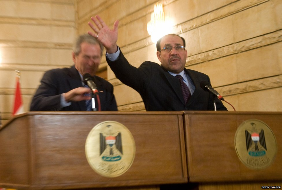 Mr Bush and Mr Maliki, 2008
