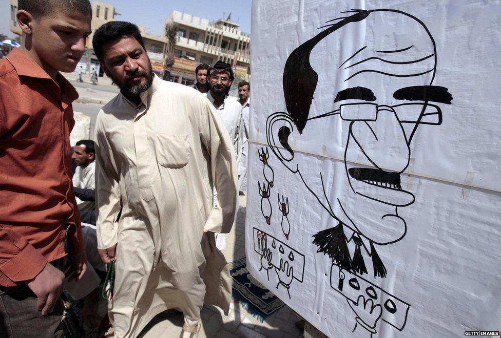 Protest against Mr Maliki in Baghdad