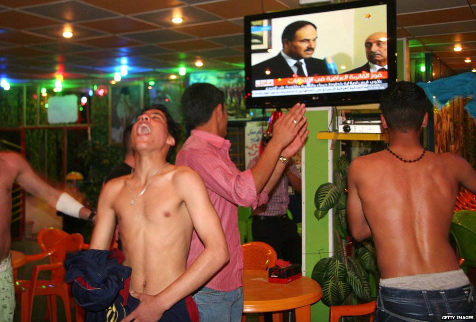 Iraqis celebrate election results in 2010