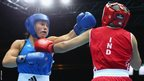 Charlene Jones, who made history as the first female boxer to represent Wales at the Commonwealth Games, lost a split decision against India's Laishram Devi in the lightweight division.