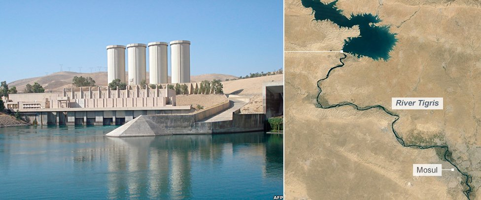 Mosul dam in northern Iraq