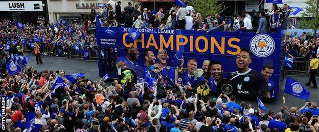 Leicester bus parade