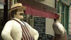 Outside butcher's shop in Cranleigh
