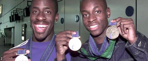 Dwain Chambers and Julian Golding