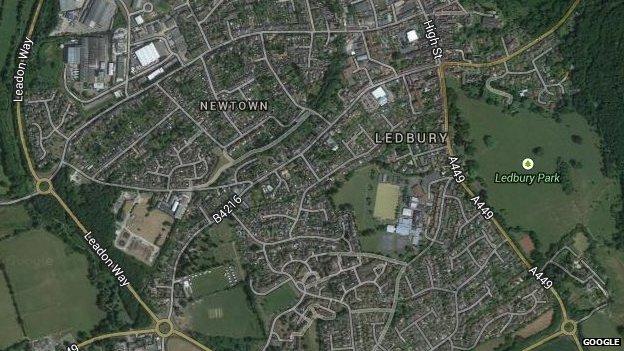 Aerial view of Ledbury