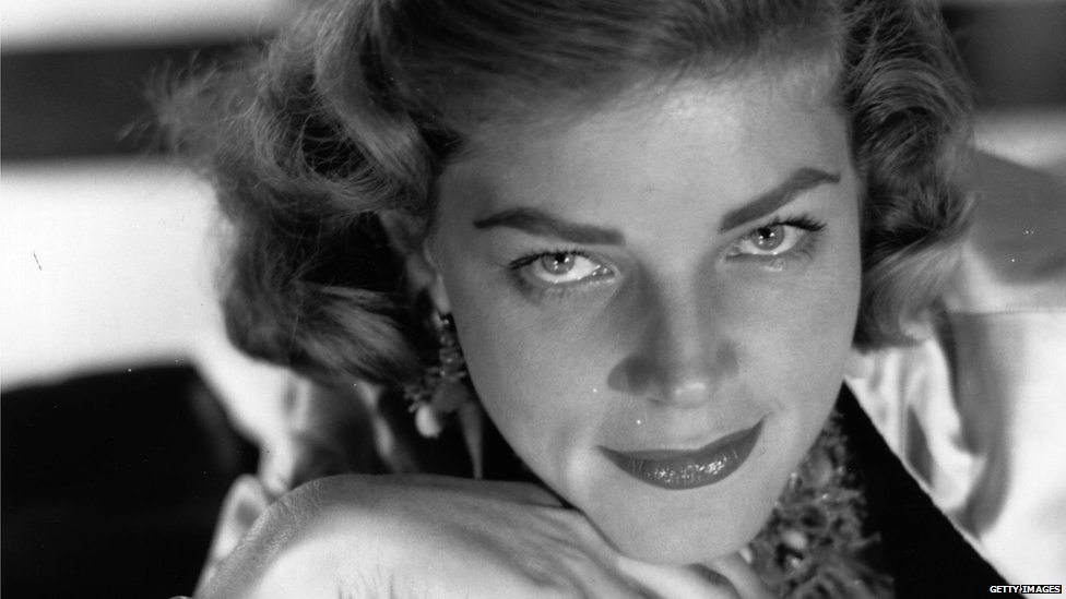 File photo: Lauren Bacall, 1 January 1954