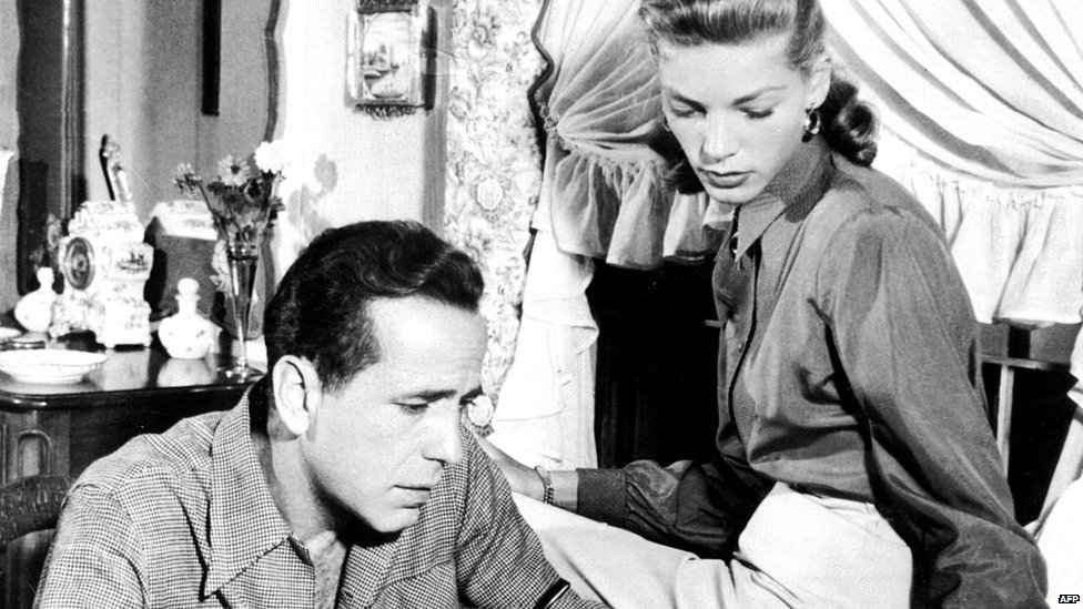 File photo: Humphrey Bogart and Lauren Bacall, 1 January 1948