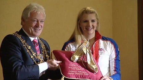 Tony Egginton with Rebecca Adlington