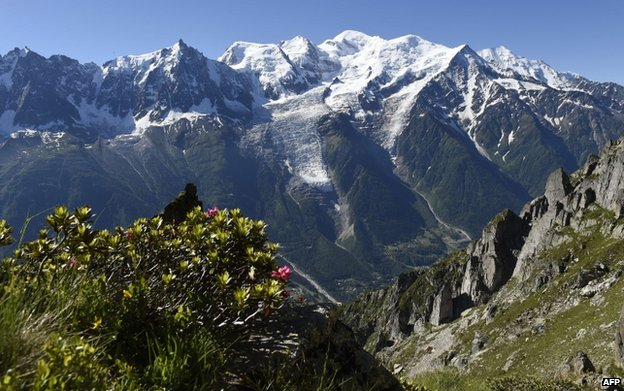 The Mont Blanc mountain range (file pic)