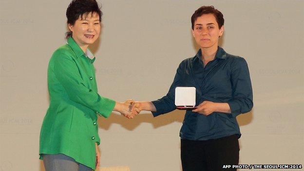 medal presentation