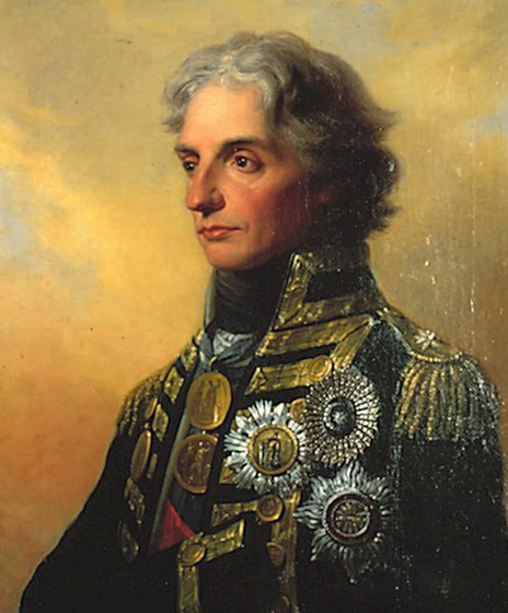 The Royal Navy Museum's official portrait of Admiral Lord Nelson