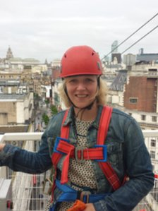 Helen on zip wire