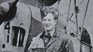 Wilson Taylor with a Tiger Moth in 1944