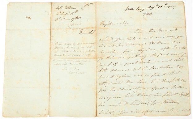 Letter written by Lord Nelson