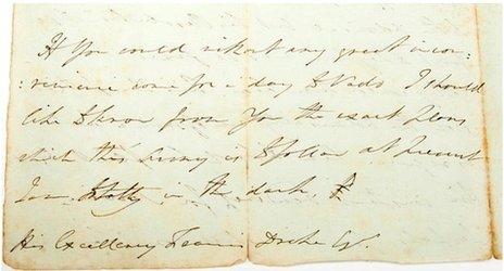The letter's postscript
