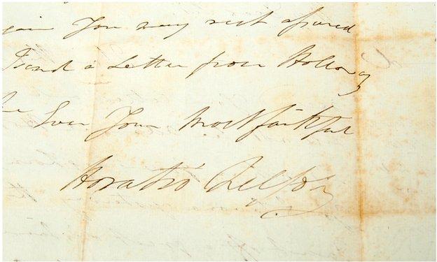 Letter's signature