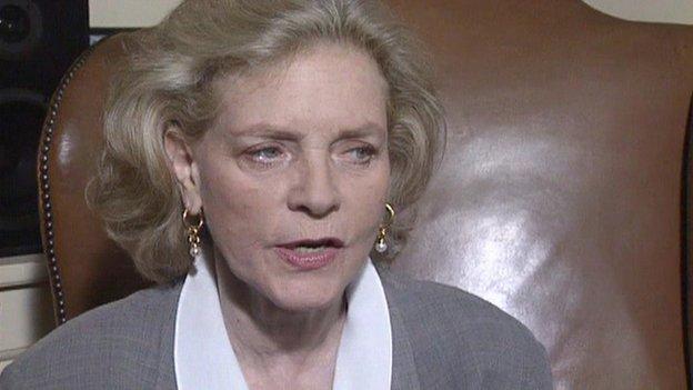 Lauren Bacall in Powys in 1991