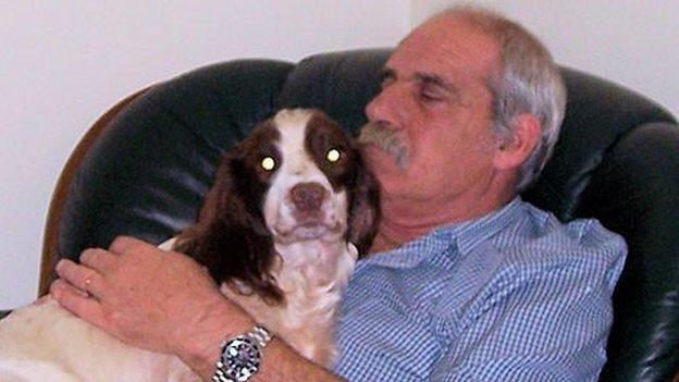 David Davies with dog
