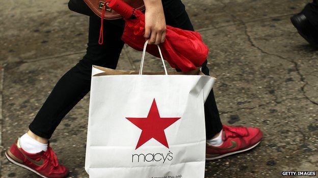 Macy's shopping bag
