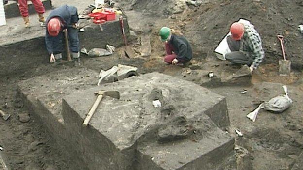Excavation work on West Runton elephant site