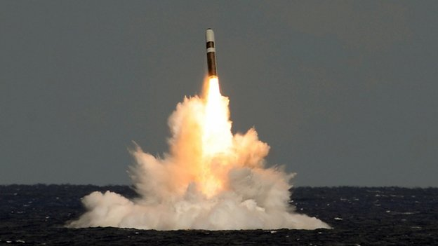 test firing of Trident missile