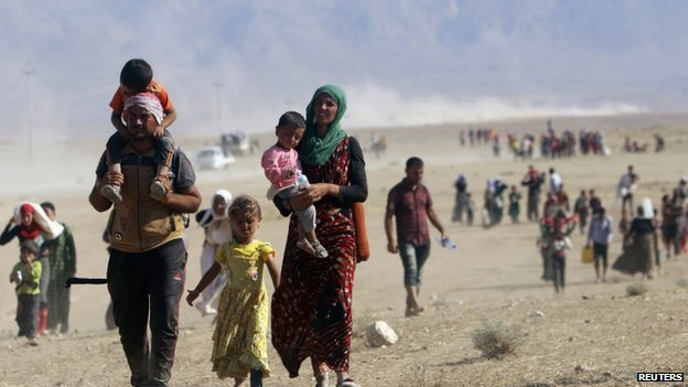 Refugees flee violence of Islamic State
