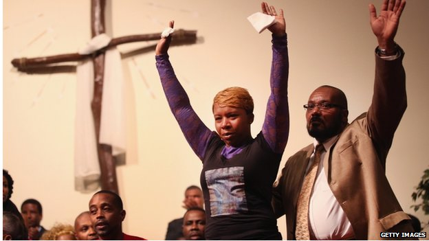 Lesley McSpadden, the mother of slain teenager Michael Brown