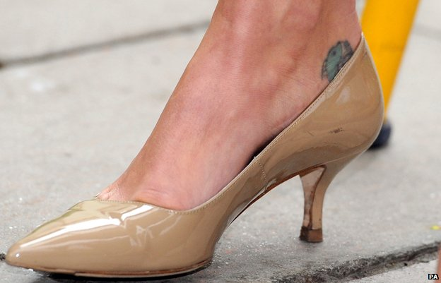Samantha Cameron's ankle tattoo