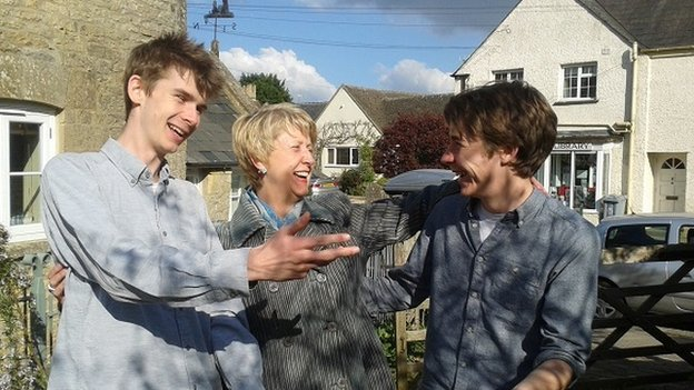 Paula Coston with her nephews
