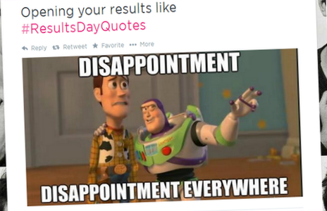 "An image from Toy Story with the caption ""Disappointment, disappointment everywhere""."