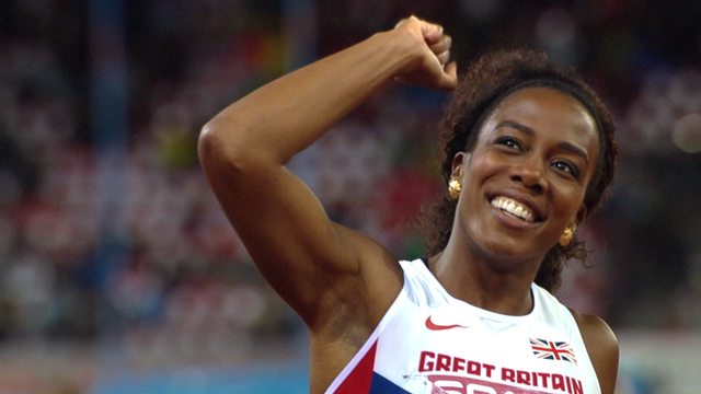 Britain's Tiffany Porter wins 100m hurdles gold