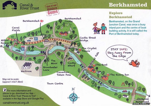 phallus shaped map of Berkhamstead