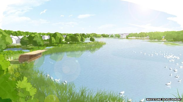 The Shipley Lakeside development will be centred around a lake