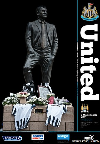 The cover of the first programme of the season features a tribute to the two fans