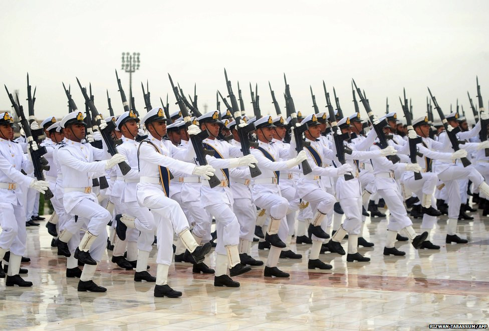 Naval cadets on parade