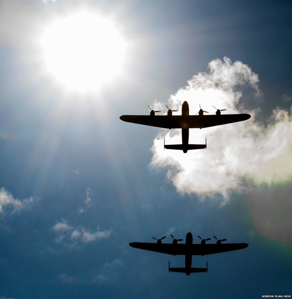 Two World War Two Lancasters