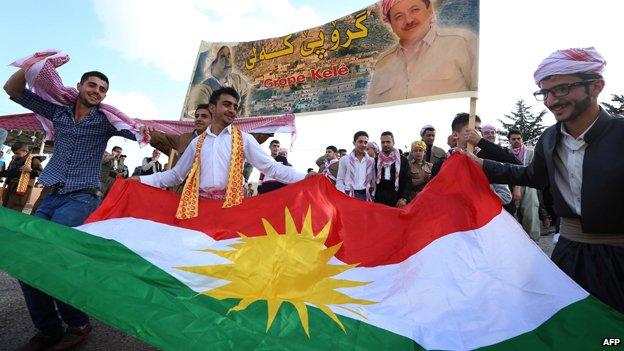 Kurds celebrating Nowruz, or New Year