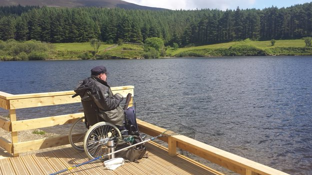 Disabled angler